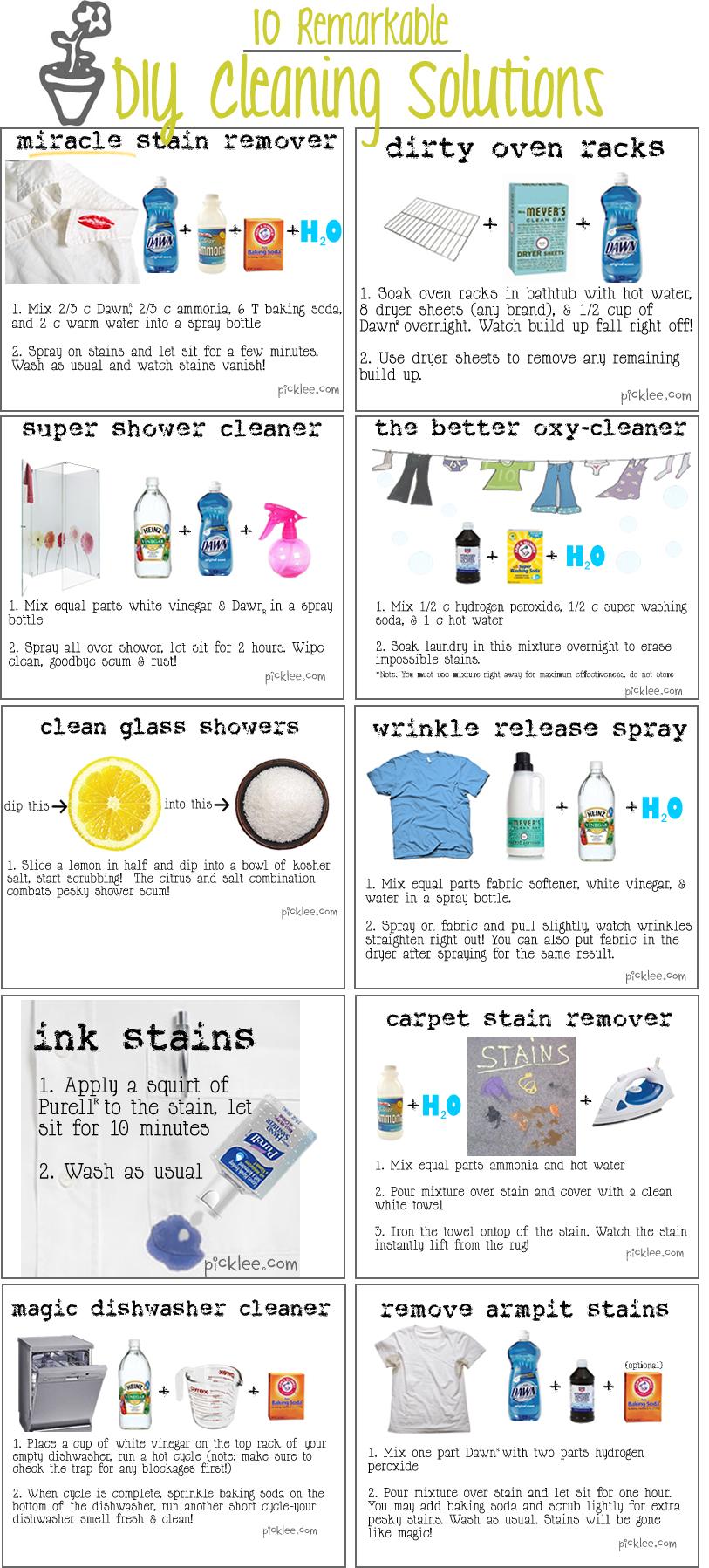 Un infographic sulla pulizia