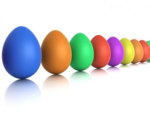 pulizia delle uova per pasqua